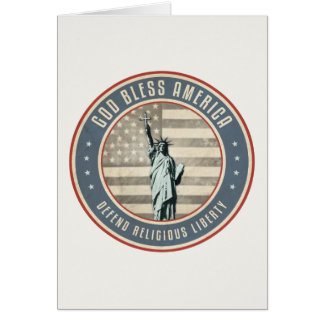 Defenda a liberdade religiosa cartao