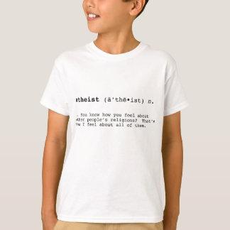 Definição ateu camiseta