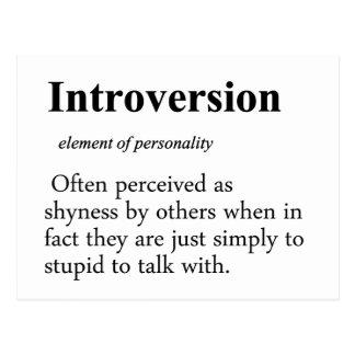 Definição da introversão cartão postal