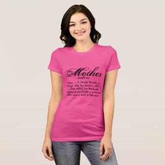 Definição da mãe, dia das mães camiseta