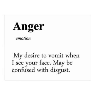 Definição da raiva cartão postal