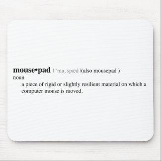 Definição de dicionário de Mousepad