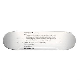 Definição de dicionário do skate