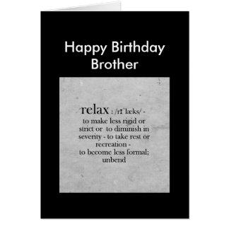 Definição do irmão do feliz aniversario do humor cartão comemorativo