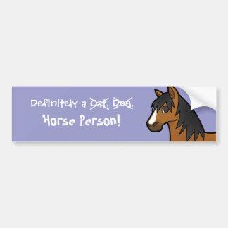 Definida uma pessoa do cavalo adesivos