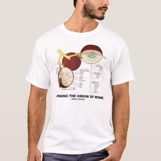 Definindo a origem do vinho (baga da uva para camiseta