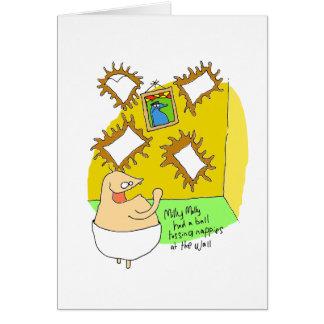 Deflector da fralda cartão comemorativo