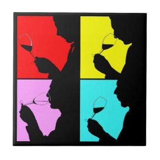 Degustação de vinhos corajosa retro Trivet do pop