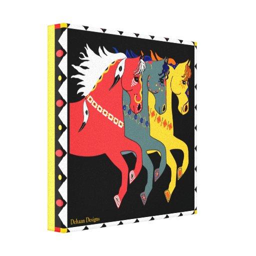 DeHaan projeta canvas místicos dos pôneis Impressão De Canvas Esticada