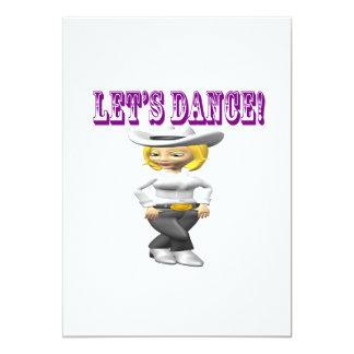 Deixa a dança convite 12.7 x 17.78cm