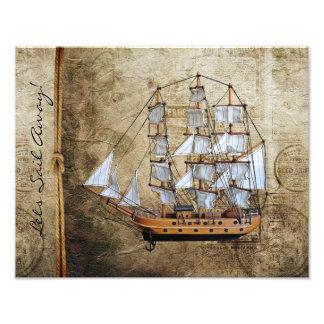 Deixa a vela afastado - náutica impressão de foto