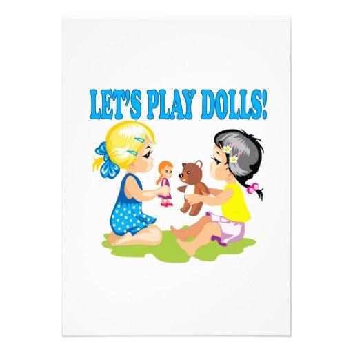 Deixa bonecas do jogo convites personalizados