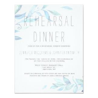Deixa convites do jantar de ensaio da aguarela