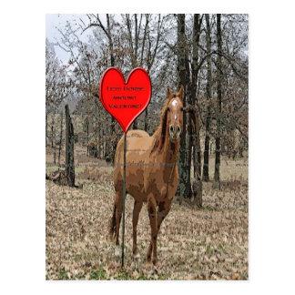 Deixa o cavalo em torno do cartão dos namorados