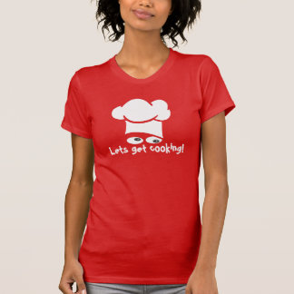 deixa para obter a parte superior do cozinhar tshirt