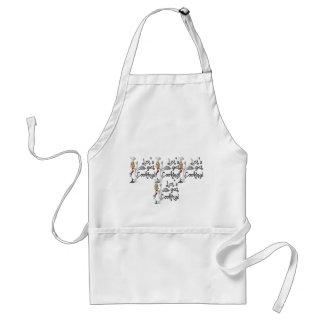 Deixa para obter o avental do cozinhar