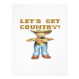 Deixa para obter o país panfletos