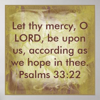 Deixado eles 33:22 do salmo do verso da bíblia do posters