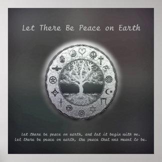 Deixado haja uma paz na terra poster