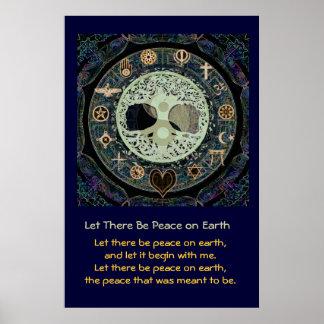 Deixado haja uma paz na terra pôster