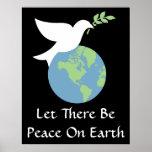 Deixado haja uma paz no poster da terra