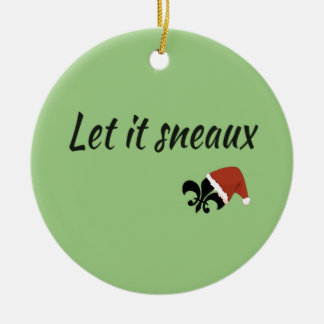 Deixado o enfeites de natal de Sneaux Louisiana