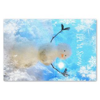 Papel De Seda Deixado o lenço de papel do Neve-man