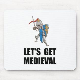 Deixado? s obtem o cavaleiro medieval mouse pad