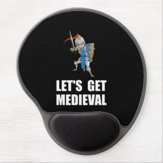 Deixado? s obtem o cavaleiro medieval mouse pad de gel