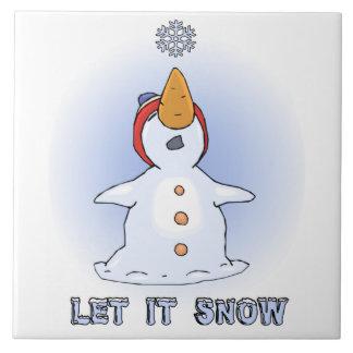 Deixais lhe para nevar azulejo Trivet