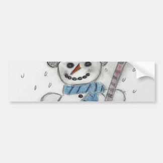 Deixais lhe para nevar boneco de neve adesivo