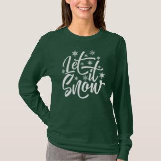 Deixais lhe para nevar camisa da luva do Natal |