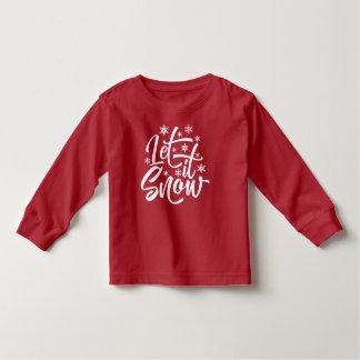 Deixais lhe para nevar camisa da luva do Natal  