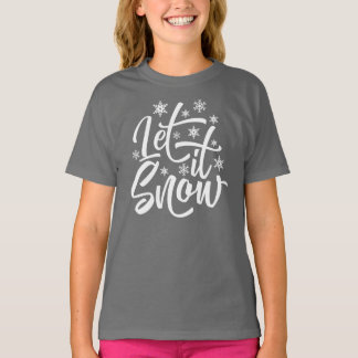 Deixais lhe para nevar camisa do Natal |