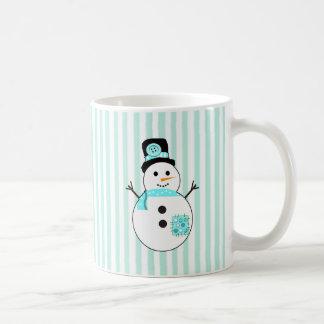 Deixais lhe para nevar, caneca de café do Natal do