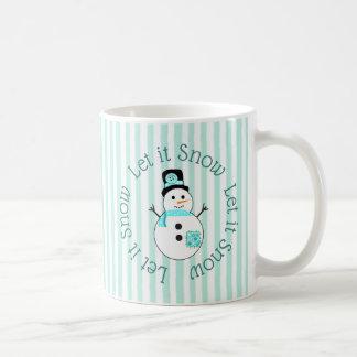 Deixais lhe para nevar caneca de café do Natal do