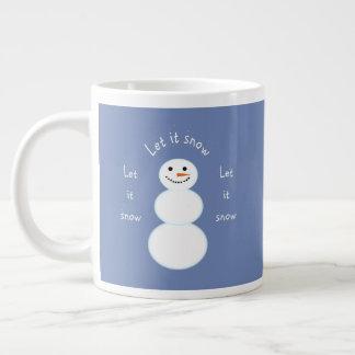 Deixais lhe para nevar caneca do boneco de neve