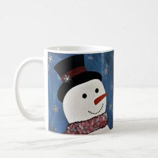 Deixais lhe para nevar caneca do Natal