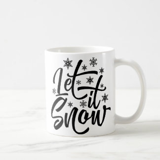 Deixais lhe para nevar caneca do presente do Natal
