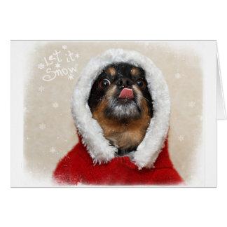 Deixais lhe para nevar cartão