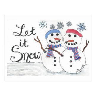 Deixais lhe para nevar cartão (aguarela & tinta)