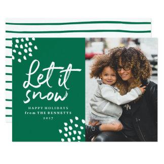 Deixais lhe para nevar cartão com fotos do feriado