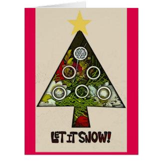 Deixais lhe para nevar cartão da época natalícia