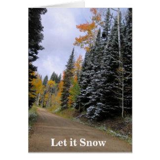 Deixais lhe para nevar cartão de Natal