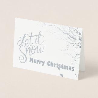 Deixais lhe para nevar cartão de Natal (da folha)