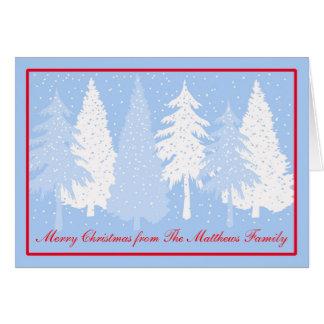 Deixais lhe para nevar cartão de Natal do feriado