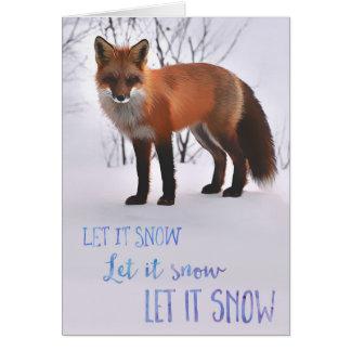 Deixais lhe para nevar cartão do Fox