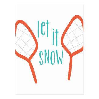 Deixais lhe para nevar cartão postal