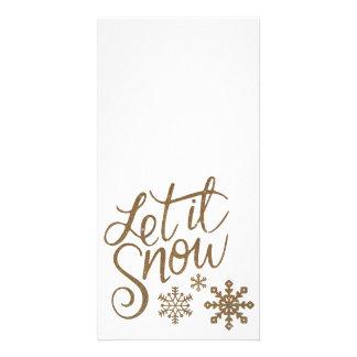 Deixais lhe para nevar cartões de fotos do feriado