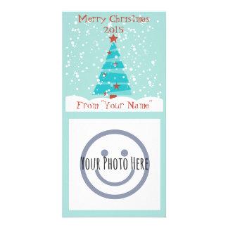 Deixais lhe para nevar cartões de fotos do Natal Cartão Com Foto